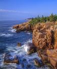 Granite cliffs Atlantic surf Acadia National Park