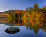 Lefferts Pond with fall reflections and Blue Ridge Mtn, Green Mtn National Forest