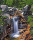 Bear River's Screw Auger Falls in spring, Grafton Notch State Park