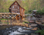 Water powered grist mill on Glade Creek