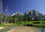 Sawtooth Mountains above Stanley Lake Creek