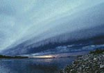 Storm over Thelon River, Thelon Game Sanctuary, Northwest Territories, Canada