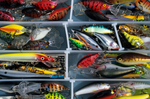 Assortment of bass lures
