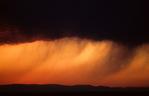 Summer desert storm over the Owyhee desert in SW Idaho