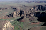 Aerial view of the Owyhee Canyonlands at the confluence of Battle Creek with the East Fork of The Owyhee River in Owyhee County ID