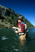 Flyfishing on the South Fork of the Snake River in eastern Idaho  (MR)