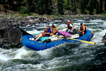 Rafters running Big Mallard Rapids (Class IV) on the Main Salmon River in the Frank Church-River of No Return Wilderness