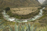 Urubamba River near the beginning of the Inca Trail in the Peruvian Andes