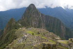 Machu Piccu ruins in the Peruvian Andes