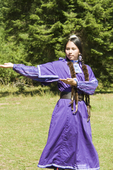 Nez Perce woman performing the
