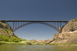 Perrine Bridge (truss arch bridge) over the Snake River near Twin Falls ID the only bridge where BASE jumping is legal in the US