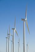 Wind farm in Elmore County Idaho