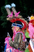 Nez Perce Indian dressed up for powwow in Nez Perce National Historical Park ID
