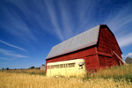 Red barn in Fremont County in eastern Idaho