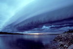 Roll cloud over the Thelon River in the Northwest Territories, Canada