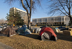 Occupy Boise encampment in front of the old Ada County Courthouse on December 11, 2011