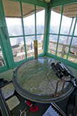 Interior of Hat Point fire lookout tower in the Hells Canyon National Recreation Area Oregon