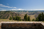 Hells Canyon National Recreation Area sign near Hat Point Overlook, Oregon
