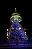 Idaho State Capitol Building and Christmas tree - 2011