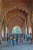 The Mail Hall in Diwan-i-am (Hall of Public Audiences) in the Red Fort in Delhi India