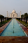 Taj Mahal and reflecting pool, Agra, India