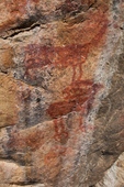 Sheepeater Indian pictgraphs at Cameron Creek on the Middle Fork of the Salmon River in the Frank Church - River of No Return Wilderness, Idaho