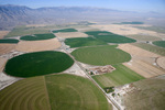Irrigated lands (center pivot) in the Little Lost River Valley, Idaho (photo courtesy of Project Lighthawk)