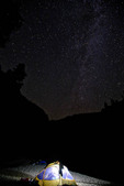 tent at night under the Milky Way at Elk Bar on the Middle Fork of the Salmon River