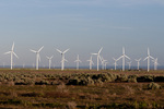 Wind farm (Mountain Home Project, Exelon Generation) in SW Idaho