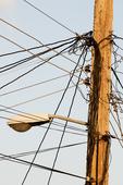 Power/light pole in Cienfuegos Cuba