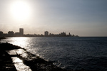 Sunset over the Malecon in Havana Cuba