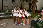 Cuban schoolchildren posing in Havana