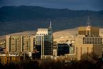 Boise Idaho cityscape in December 2017