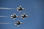 USAF Thunderbirds flying in the