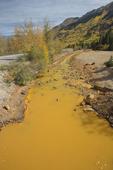 Acid mine drainage, Red Mountain Creek, Colorado