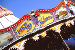 The carousel on Fisherman's Wharf's Pier 39 features famous San Francisco landmarks.