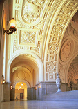 Beaux-Arts inspired interior of City Hall in the Civic Center.