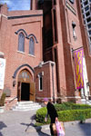 Old St. Mary's, dedicated in 1854, was the first Roman Catholic cathedral on the Pacific Coast.