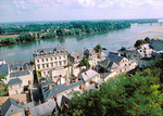 The town of Saumur and the Loire River as seen from the chateau.