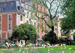 The garden of Leopold-Achille Square with its spring blooms is a tranquil spot made the more enjoyable by the 17C mansions which line the adjoining rue du Parc-Royal in the Marais.