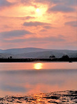 Sunrise over Tomales Bay, at Point Reyes National Seashore.