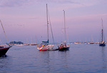Camden Harbor, on Penobscot Bay, after sunset.