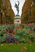 "Fall color and ""Le Faune Dansant"" in the Luxembourg Garden."