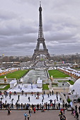 Paris' Trocadero Ice Rink has a ringside view of the Eiffel Tower during the winter holidays.