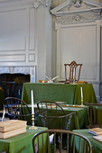 Rising Sun Chair, where Washington sat while presiding over the Constitutional Convention in 1787; Independence Hall.