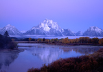 Pre-dawn blue on Mt Moran, Grand Tetons National Park
