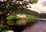 Kylemore Abbey on Kylemore lake in County Connemara, Ireland