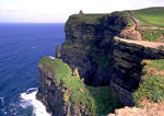 Cliffs of Moher and O'Briens Tower, County Clare, Ireland