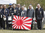 Japanese WWII military survivors attend the Reunion of Honor held on the battlefield of Iwo Jima.