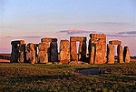 Stonehenge at sunset, England